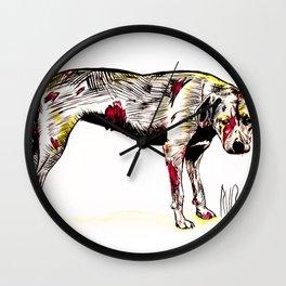 The sadness of streetdogs Wall Clock