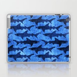 Sharks in the Blue, Blue Sea Laptop & iPad Skin