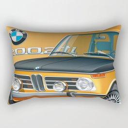 BMW 2002 ti Alpine from 1968 Rectangular Pillow