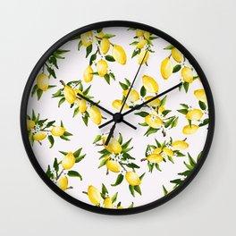 life gives ya lemons Wall Clock
