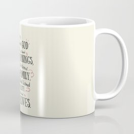 Thank God, every day, quote for inspiration, motivation, overcome, difficulties, typographyw Coffee Mug