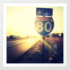 Highway 80 West Art Print