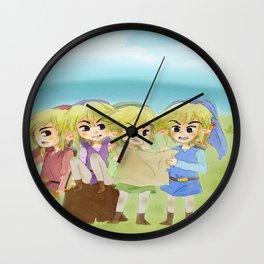 Zelda- 4 swords Wall Clock