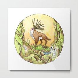 Miyazaki's Forest Spirit Metal Print