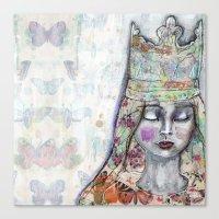 jane davenport Canvas Prints featuring Butterfly Crown by Jane Davenport by Jane Davenport