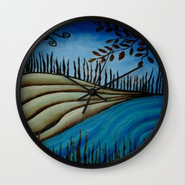 Riverlandscape Wall Clock