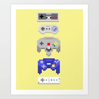 nintendo Art Prints featuring Nintendo by 8BOMB