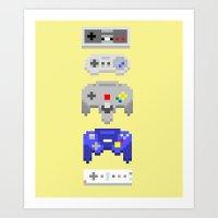 nintendo Art Prints featuring Nintendo by 8BOMB