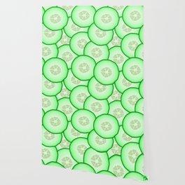 Cucumber patterned Wallpaper