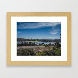 Cockatoo Island Landscape Framed Art Print