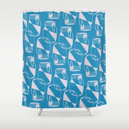 glass containers Shower Curtain
