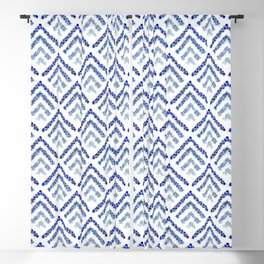 Sea glass - Treeometric - blue Blackout Curtain