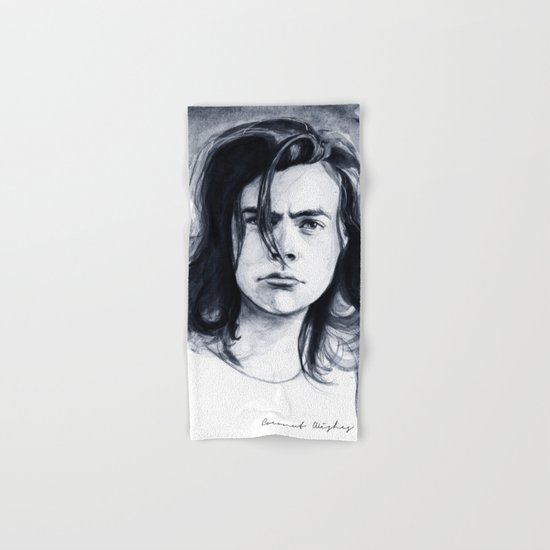 Harry Watercolors B/N Hand & Bath Towel