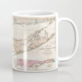 1842 Map of Long Island, New York Coffee Mug