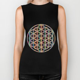 Flower of Life Colored | Kids Room | Delight Biker Tank