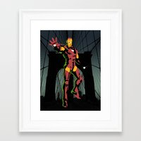 ironman Framed Art Prints featuring ironman  by mark ashkenazi