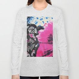 Pink Flower | fleur rose Long Sleeve T-shirt