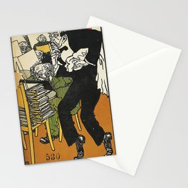 Vienesse Café: In the Reading Room (Wiener Café: Im Lesezimmer) 1911 Stationery Cards