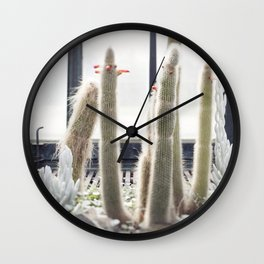 These Old Men  //  The Succulent & Cactus Series Wall Clock