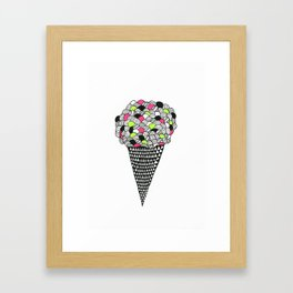 waffle ice cream  Framed Art Print