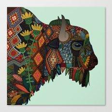 bison mint Canvas Print