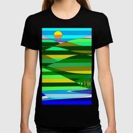 Mountain and Lake Quilted T-shirt