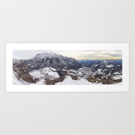 Monte Alben dal Monte Castello - Val Brembana Art Print