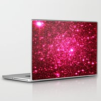 glitter Laptop & iPad Skins featuring Hot Pink Glitter Stars by 2sweet4words Designs