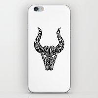 taurus iPhone & iPod Skins featuring Taurus by Mario Sayavedra