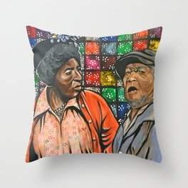 Aunt Esther vs. Fred Sanford Throw Pillow