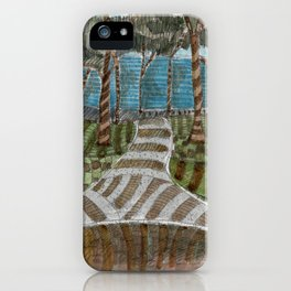 Meandering Landscapes: Swirling Around (BP) iPhone Case