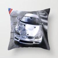 blueprint Throw Pillows featuring M3 Blueprint by Propellorhead