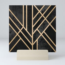 Art Deco Black Mini Art Print