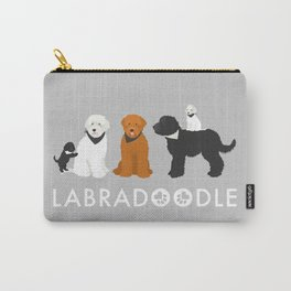 Labradoodle family Carry-All Pouch