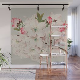 Vintage Japanese Watercolor - Mikuruma Gaeshi Wall Mural