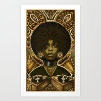 erykah badu Art Prints featuring Erykah Badu by Taylor Francis