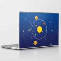 solar system Laptop & iPad Skins featuring Solar System by Lalu - Laura Vargas