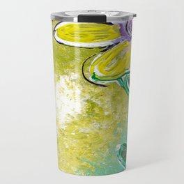 Single Yellow Flower Travel Mug