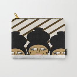 bbnyc brown women on stripes Carry-All Pouch