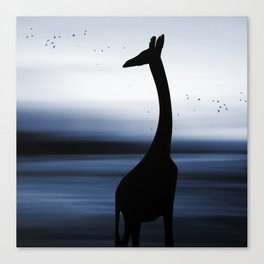 Giraffe and nature Canvas Print