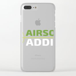Airsoft Addict Green and White Art Clear iPhone Case