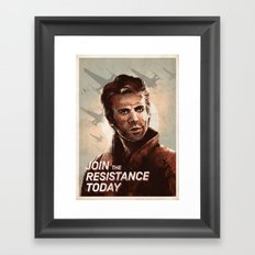 Join the Resistance Today -Poe- Framed Art Print