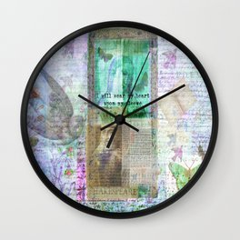Shakespeare romantic quote Wall Clock