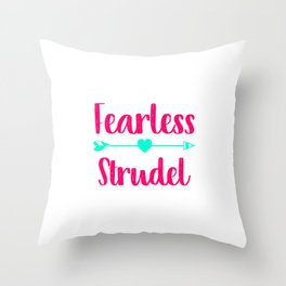 Fearless Strudel German Breakfast Pastry Gift Throw Pillow