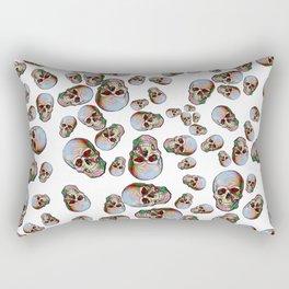 Happy Skull Random Pattern (White) Rectangular Pillow