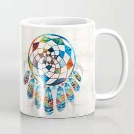 Native American Colorful Dream Catcher by Sharon Cummings Coffee Mug