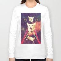 saga Long Sleeve T-shirts featuring galactic Cats Saga 4 by Carolina Nino
