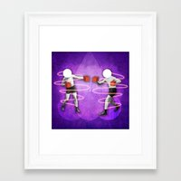 boxing Framed Art Prints featuring Boxing by Caroline David