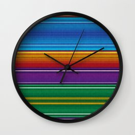 Mexican serape #3 Wall Clock