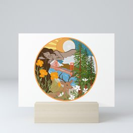 The Sleeping Lady Mini Art Print